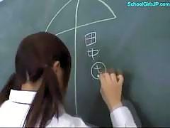 Busty Schoolgirl Fingering Herself Giving