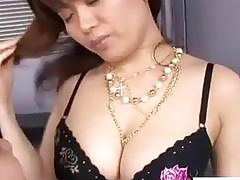 Busty japanese milf in sexy lingerie get her tight pussy pounded in dazzling hardcore action