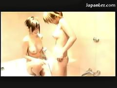 2 Hot Asian Girls Kissing Licking Nipples Pussy Asshole Fingering While Taking Shower In The Bathroom