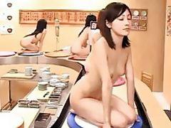 Asian Sushi Girls Facialed!