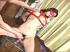 Nasty milf japanese slut tiedtortured and fucked non stop