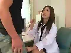 Sexy Japanese Doctor Gets Creampie