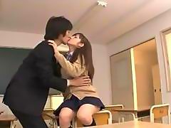 Schoolgirl Giving Blowjob For Teacher In The Classroom