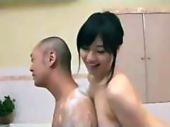 busty teen gives nice thai bath service