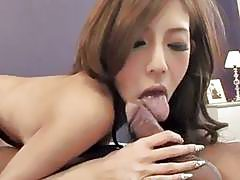 Strong pleasure for peachy tits Asian model Ramu Nagatsuki