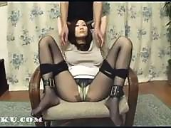 Asian girl in pantyhose get fucked