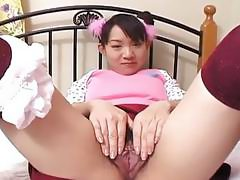 Asian bitch getting her wet tacco finger fucked