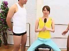 Japanese AV Model sucking cock