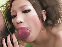 Tsubasa Aihara sucks two dicks until exhaustion