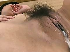 Fucking a wet hairy Japanese cunt