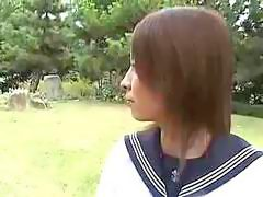 Young Japanese Girl In School Uniform